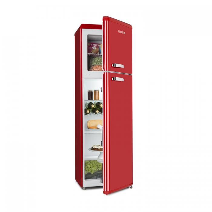 Audrey Retro retro kombinácia chladničky s mrazničkou, 194 l/56 l