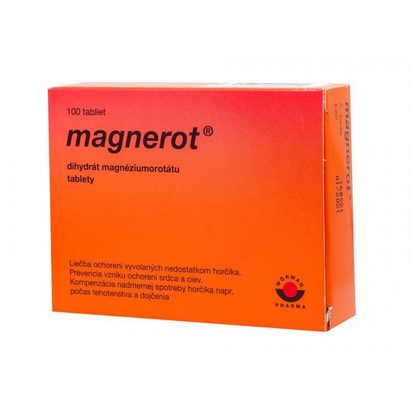 Voľnopredajný liek Magnerot – kombinácia magnézia akyseliny orotovej